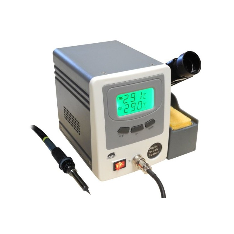 Digital Soldering Station : W digital soldering station rhino electricians tools